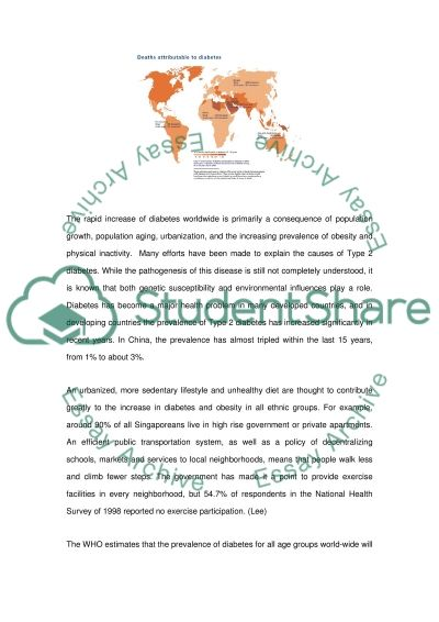 World Diabetes essay example