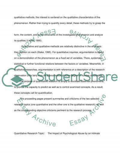 Research Methodolgy essay example