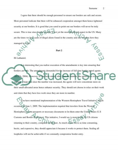 Responses to Students Posting