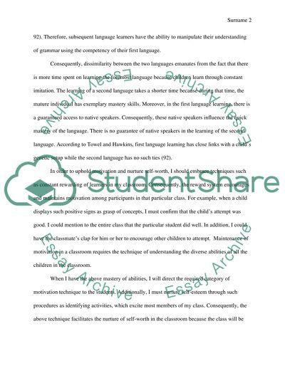 ESL teacher Essay