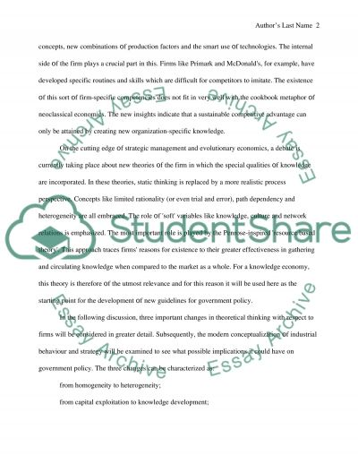 Penrose-inspired resource based theory essay example