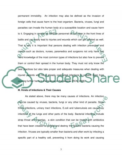 Infection Prevention and Control in Defence Healthcare Essay example
