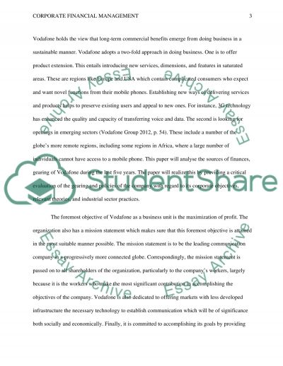 Corporate Financial Management essay example