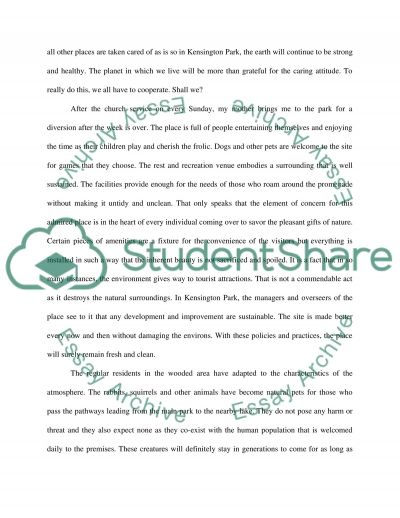 A place that is relaxing essay example