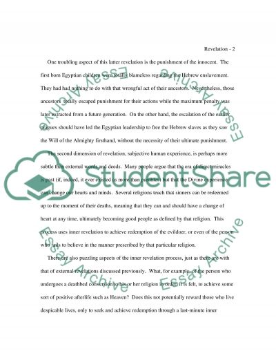 Religion College Essay Essay example