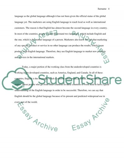 Science And Literature Essay Should English Be The Global Language Essay Example Read Text Preview Essay About English Language also General Paper Essay Should English Be The Global Language Essay Example  Topics And  Essays On Science Fiction