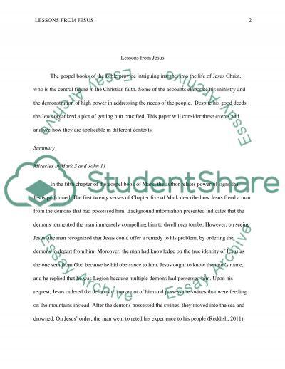 Christianity Jesus Reflection Essay essay example
