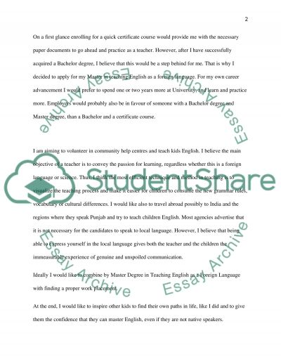 personal statement for application at university to do a masters personal statement for application at university to do a masters in teaching english as a foreign