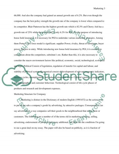 Foundation of Marketing essay example