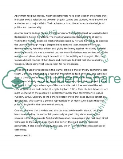 Historical and Social Science Research essay example
