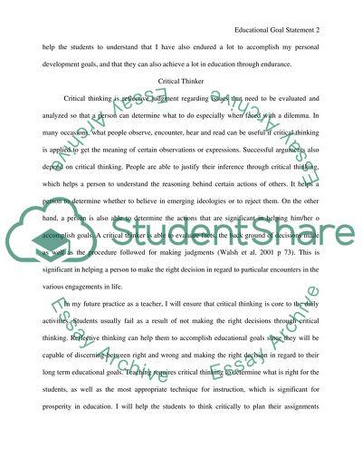Educational Goal Statement