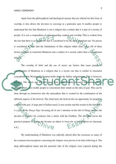 Religious Tolerance and Hindu Rituals essay example