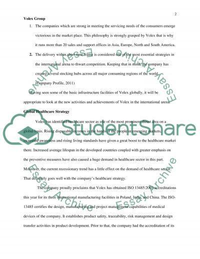 Volex Group essay example