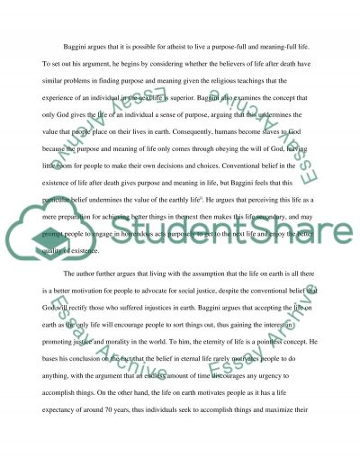 Athiesm Research Paper essay example