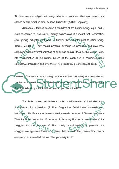 Personal Essay Samples For High School Mahayana Buddhism Is A Research Paper An Essay also Thesis Statement Example For Essays Mahayana Buddhism Essay Example  Topics And Well Written Essays  Barack Obama Essay Paper