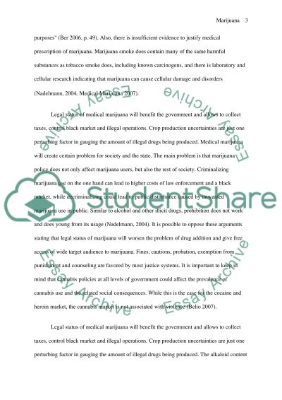 Legalization of Marijuana essay example