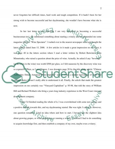 Business School Admission essay example