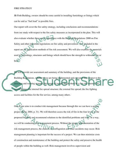 Help Writing Essay Paper Fire Protection Strategy Comparison Contrast Essay Example Paper also Health Promotion Essay Fire Protection Strategy Essay Example  Topics And Well Written  Classification Essay Thesis Statement