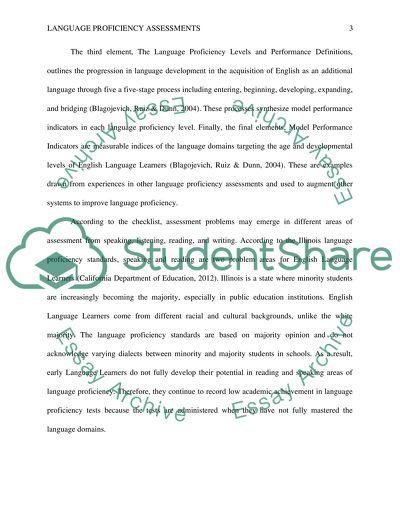 Language Proficiency Assessments