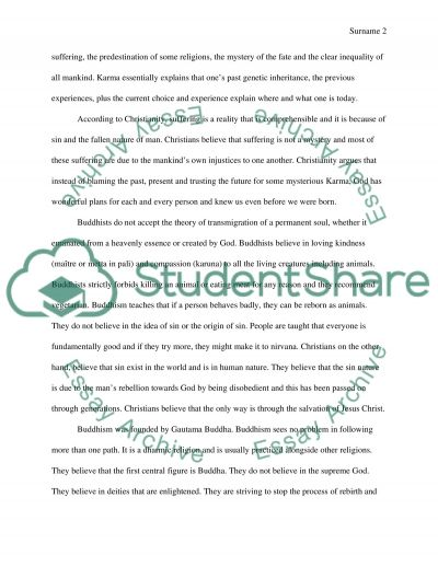 Buddism Versus Christianity essay example