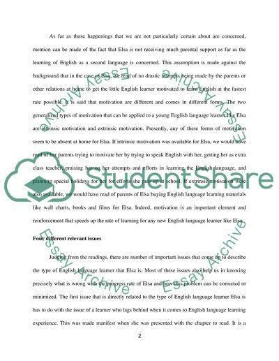 English Language Larners Case Study