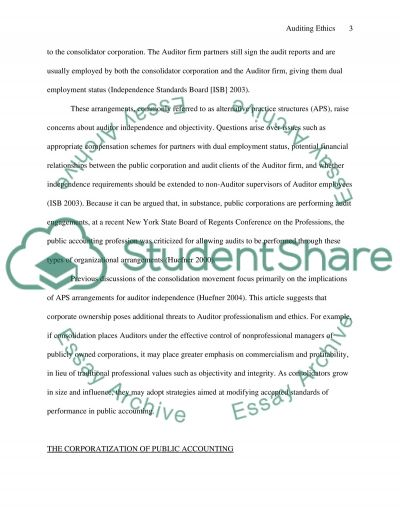 Auditing Ethics essay example