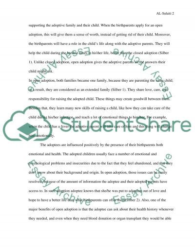 Adobtion essay example