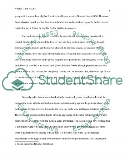 Health Care Issues in Ireland essay example