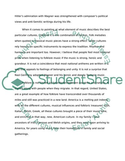 Music Folkloreand Nationalism Music Appreciation Essay Music Folkloreand Nationalism Music Appreciation High School Entrance Essay also Easy Essay Topics For High School Students  Health Care Essay Topics