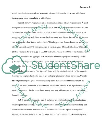 Student Loan Essay Examples - Free Research Papers on blogger.com