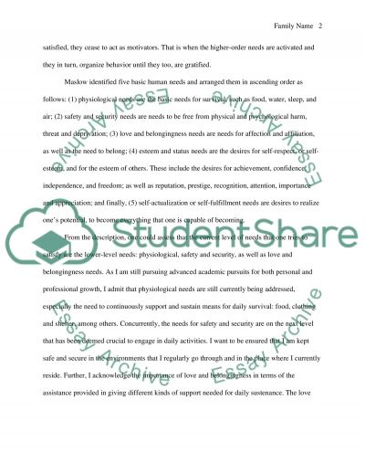 Maslows Hierarchy of Needs essay example