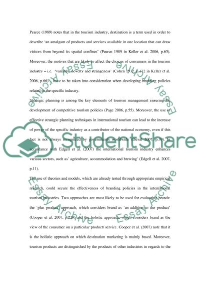 Strategic Planning for International Tourism (Identify a National Tourism Organisation) essay example