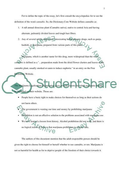 Marijuana High School Essay essay example
