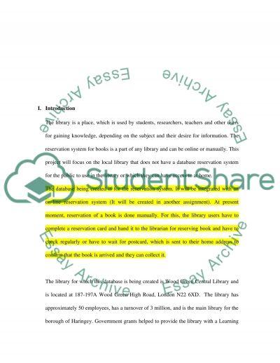 Project Progress Report essay example