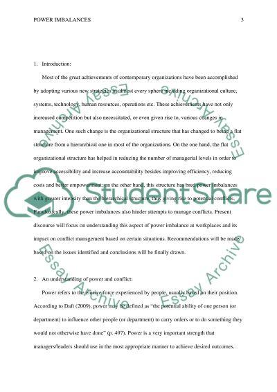 Imbalances essay example