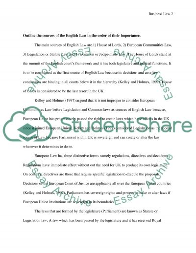 Business Law essay example