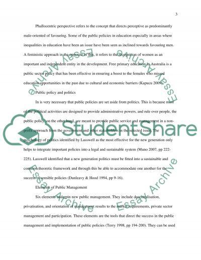 Comparative public sector management essay example