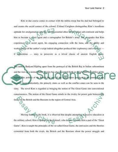 Kim Novel Review by the renowned novelist Rudyard Kipling