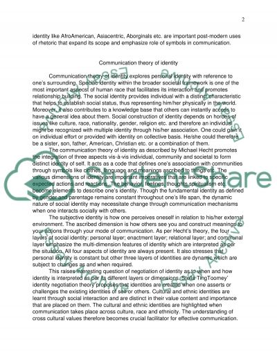 communication theory 3-4 Essay example