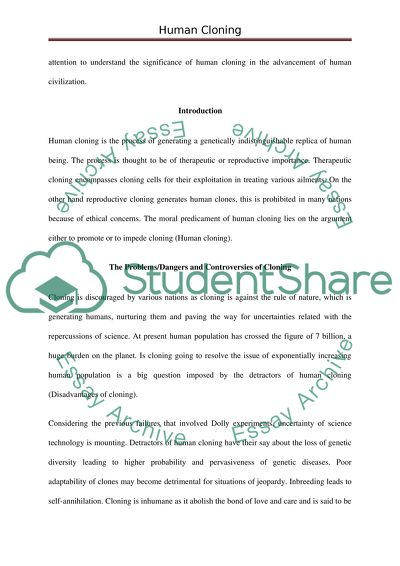 Persuasive Essay Topics High School Read Textpreview Proposal Argument Essay Examples also Sample Essay Thesis Human Cloning Research Paper Example  Topics And Well Written  Essay Paper Writing