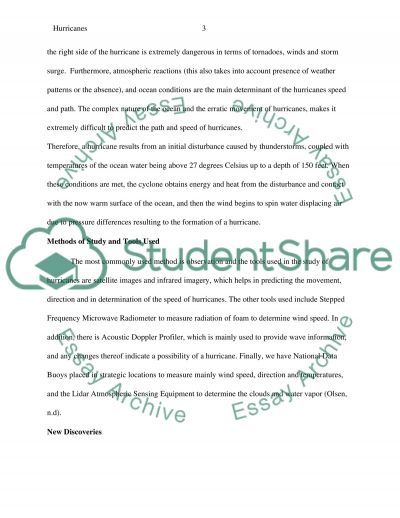 Hurricanes essay example