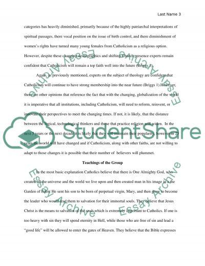 Catholic essay example