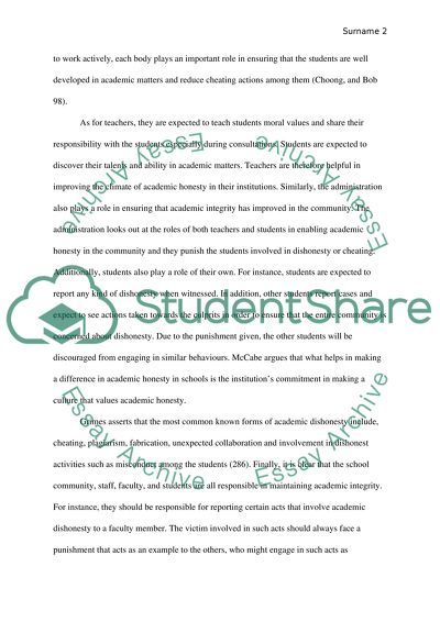 Academic Honesty Who Is Responsible The Student The Teachers Or The