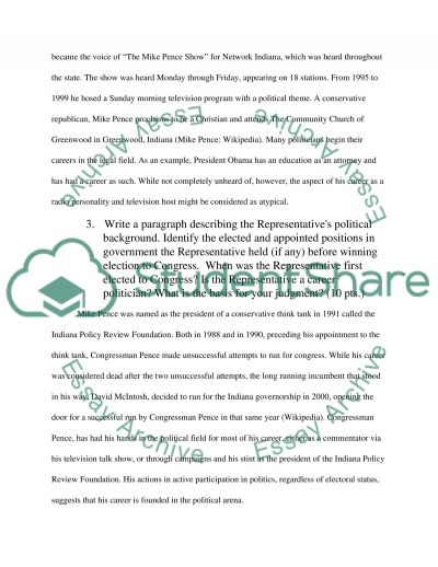 About Mike Pence, Indiana research project essay example