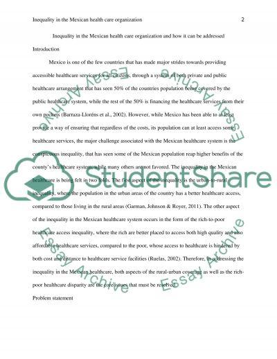 Healthcare Model Presentation essay example