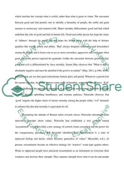 master morality and slave morality essay example  topics and well