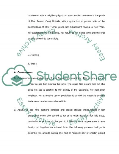 character analysis of the short story mrs turner cutting the character analysis of the short story mrs turner cutting the grass by carol shields essay