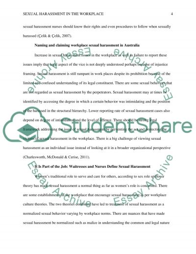 Sexual Harassment in the Workplace essay example