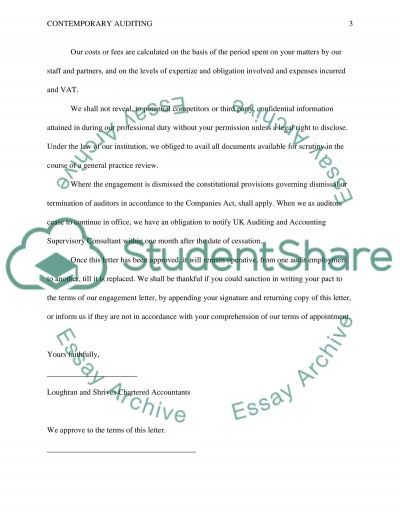 Contemporary auditing and risk management Essay example