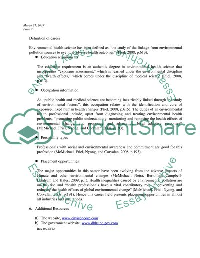 Formal report and work plan
